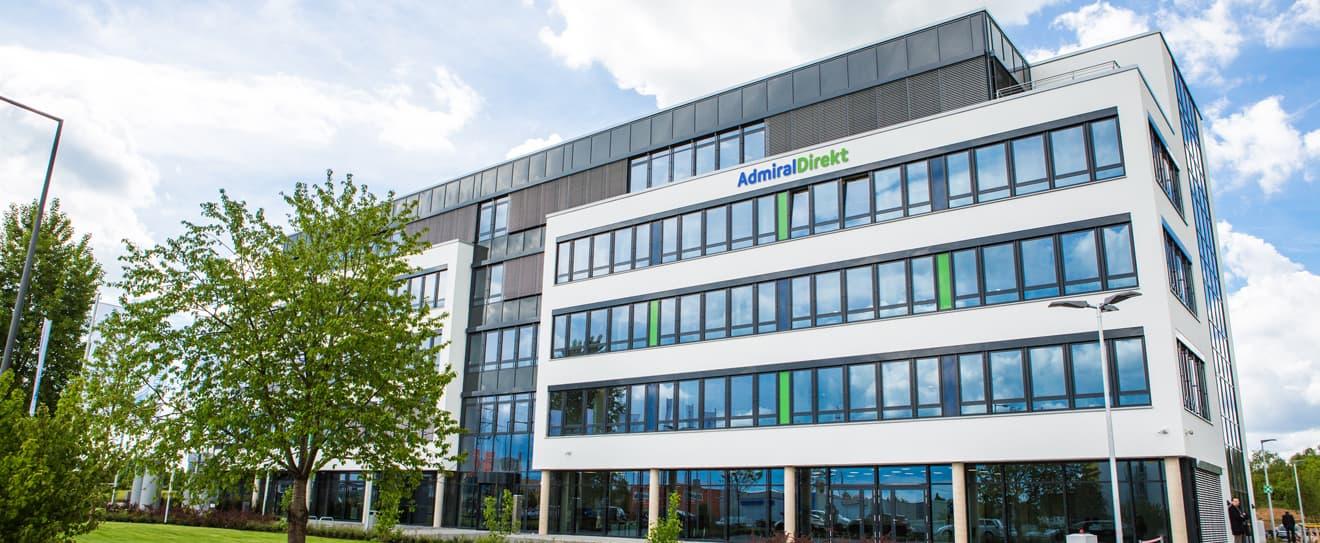 Verwaltungsgebäude der AdmiralDirekt in Köln.